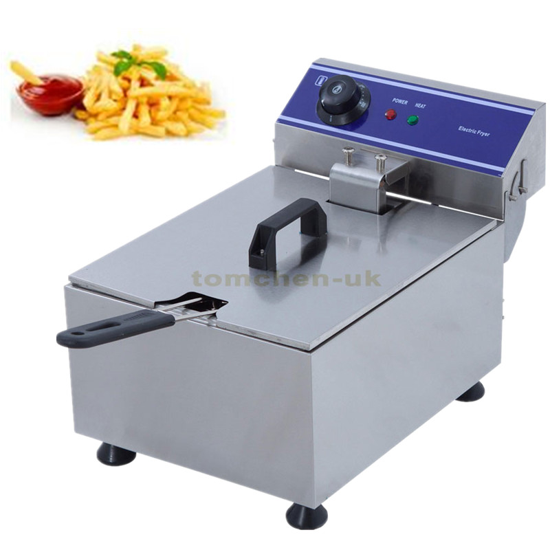 3KW electric deep fryer Multifunctional Household Commercial Stainless steel Grill Frying pan French fries machine hot pot шуруповерты bort дрель шуруповерт аккумуляторная bort bab 18ux2 dk