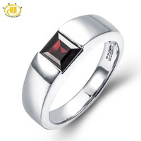 Natural Mystery Black Garnet Solid 925 Sterling Silver Ring Gemstone Womens Mens Fine Jewelry Birthstone