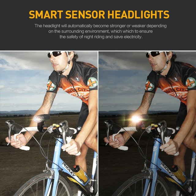 SHENKEY 4000 MAH 800 Lumens Bicycle Light Bike Lamp Front LED Headlight USB Rechargeable Flashlight For Cycling Lanterna