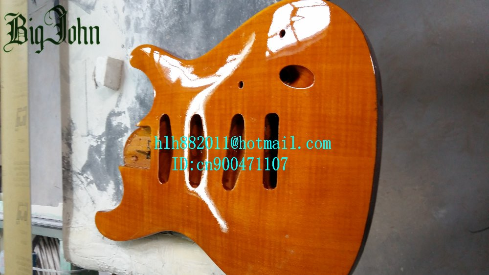 free shipping new electric guitar ultrathin mahogany body with sticking tigger stripes F-2170 free shipping big john new electric bass guitar mahogany body in natural color f 1934