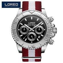 7c8802952a5 Submarinista LOREO Série Relógio Mecânico Automático Cinta de Nylon À Prova  D  Água Masculino Business Casual dos homens Relógio.