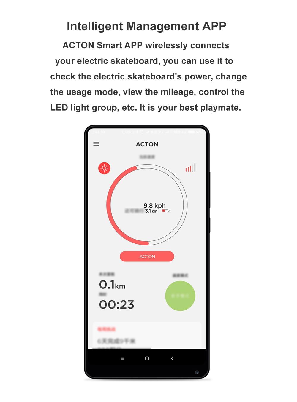 Xiaomi ACTON Smart Electric Skateboard-2