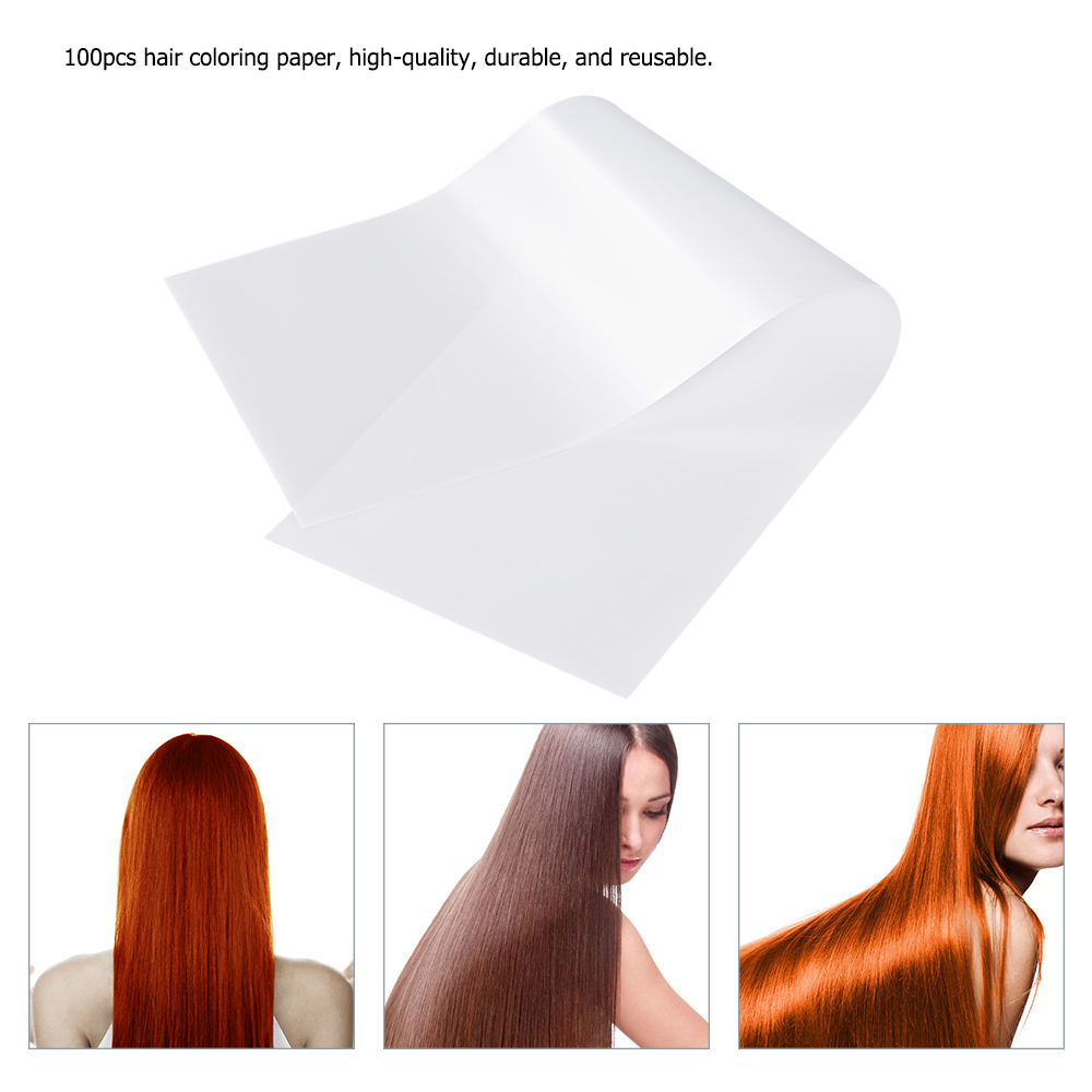 Купить с кэшбэком 100pcs/bag Pro Salon Hair Dye barber accessories Paper Recycleable Hair Dyeing Paper Separators Sheet Barber Tissue Hair Styling