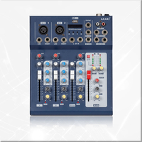 Professional 4 channels Audio Mixer Console F4