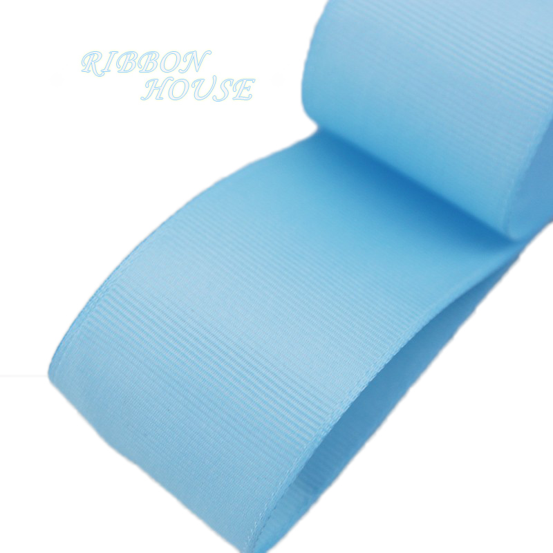 (5 м/лот) 40 мм Голубой Grosgrain ленты Подарочная упаковка оптом Рождество украшение ленты