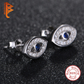 Belawang jóias authentic 925 sterling silver evil eye stud brincos de cristal austríaco com micro pave cz brincos para as mulheres