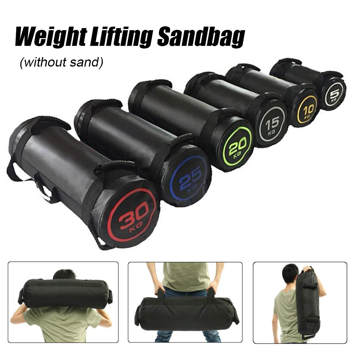 5-30kg Weight Lifting Bulgarian Sandbag Boxing Fitness Workout MMA  Equipment Physical Training Exercises Power Bag