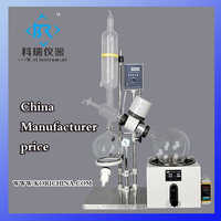 5L Glass Vacuum Heating Rotovap for pharmaceutical processing Lab crystallizer equipment