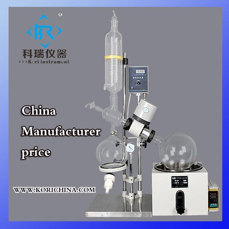 Rotovap de calentamiento al vacío de vidrio 5L para equipo de cristalizador de laboratorio de procesamiento farmacéutico