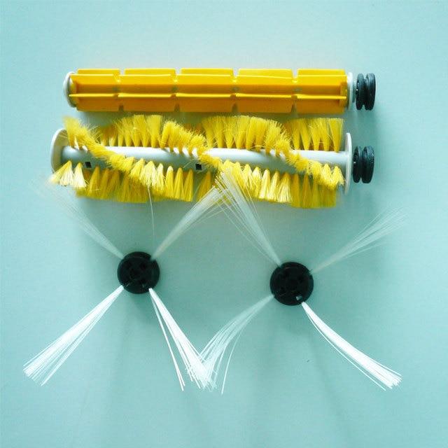 Robot Vacuum Cleaner A325 Sider Brush 2 pcs Hair Brush1 pc Rubber Brush 1 pc