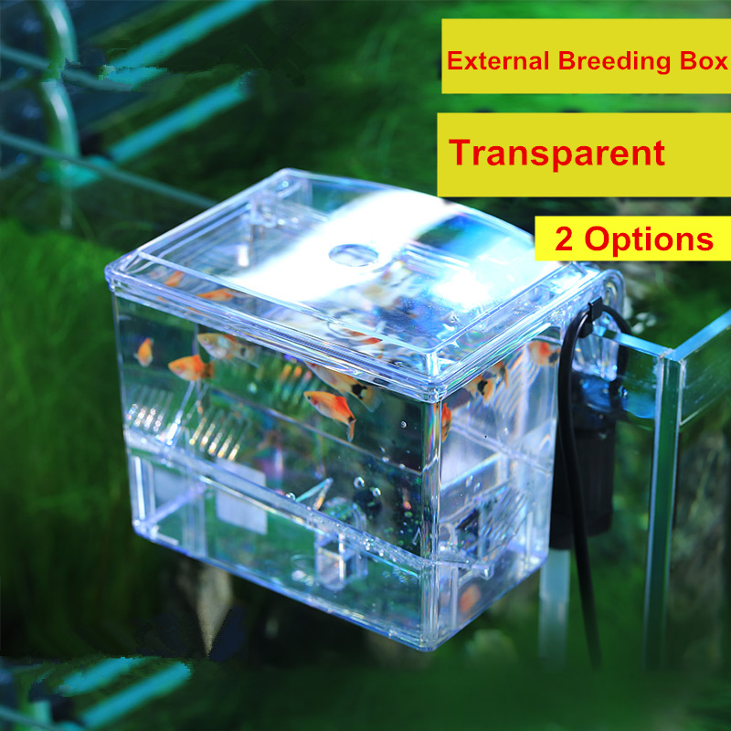 New Arrival Wall Hanging External Breeding Box Transparent Aquarium Fish Tank Isolation Box With Water Pump Aquarium Box AT010 ...