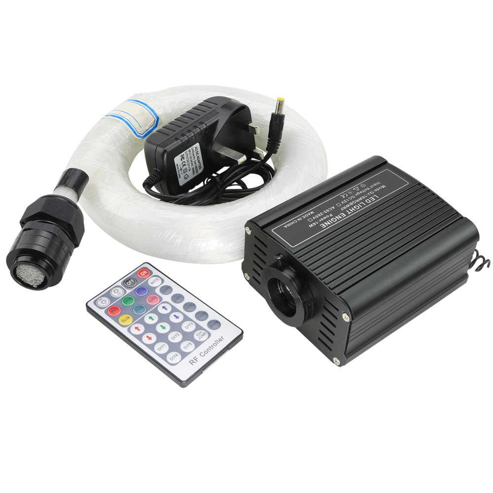 Kit de plafonnier étoile à fibres optiques LED mélangé 335 brins (0.75 + 1.0 + 1.5mm) * 3 M/4 M + 28 clé à distance 16W RGBW lumière moteur bricolage éclairage
