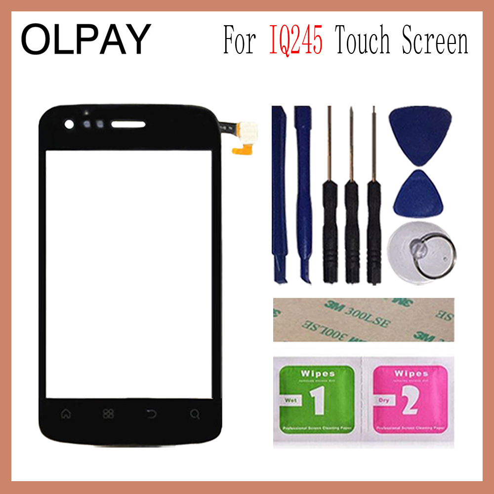 OLPAY 3.7 Mobile Phone For Fly IQ245 IQ 245 Touch Screen Glass Front Glass Digitizer Panel Lens Sensor Flex Cable ToolsOLPAY 3.7 Mobile Phone For Fly IQ245 IQ 245 Touch Screen Glass Front Glass Digitizer Panel Lens Sensor Flex Cable Tools