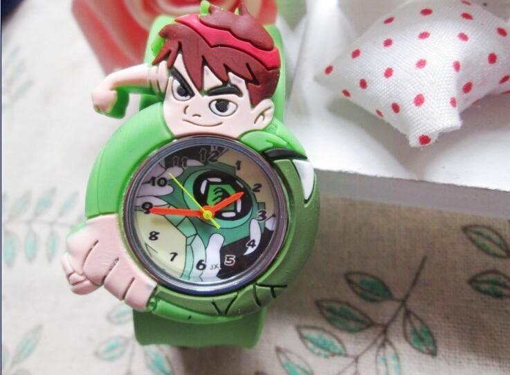купить 2015 new 1pcs/lot kids slap watches children cartoon ben 10 slap watches по цене 134.64 рублей