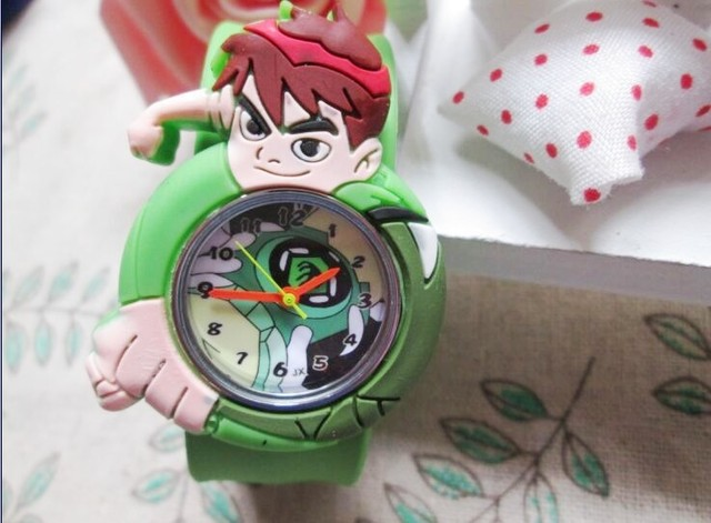 2015 new 1pcs/lot kids slap watches children cartoon ben 10 slap watches