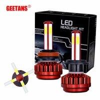 GEETANS H4 H7 H11 9005 9006 H13 H1 COB Chips 80W Car LED Headlight Bulbs 8000LM