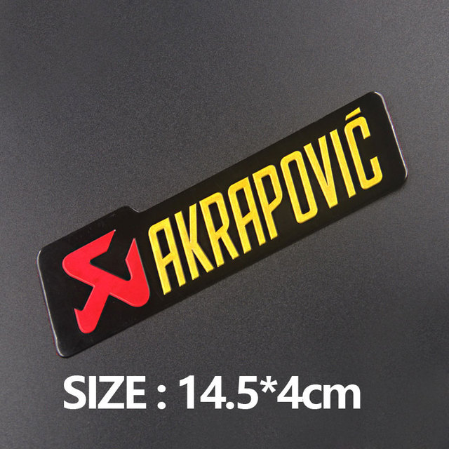 Aluminium Motorcycle Exhaust Pipes Decal Sticker Cool Personality Scorpio For Akrapovic