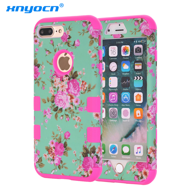 fashion painting cover for apple iphone 7 plus case silicone casefashion painting cover for apple iphone 7 plus case silicone case 360 full cover protect flowers armor for iphone7 plus