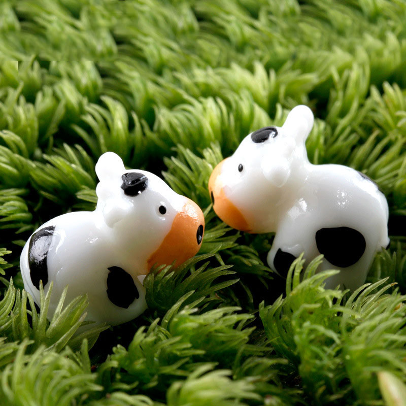10 шт коровья Смола ремесло фигурки для террариума бонсай микро пейзаж мини садовое украшение Миниатюрные аксессуары для домашнего декора