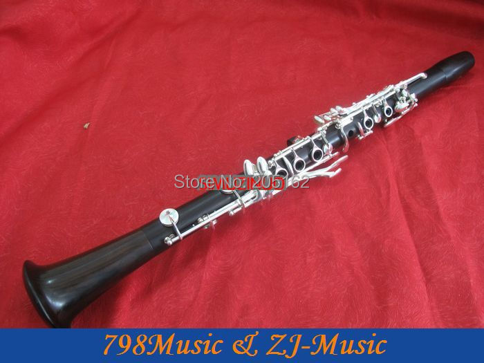 Magnificent professional Clarinet Black wooden Silver plated 17 key Italian Pads