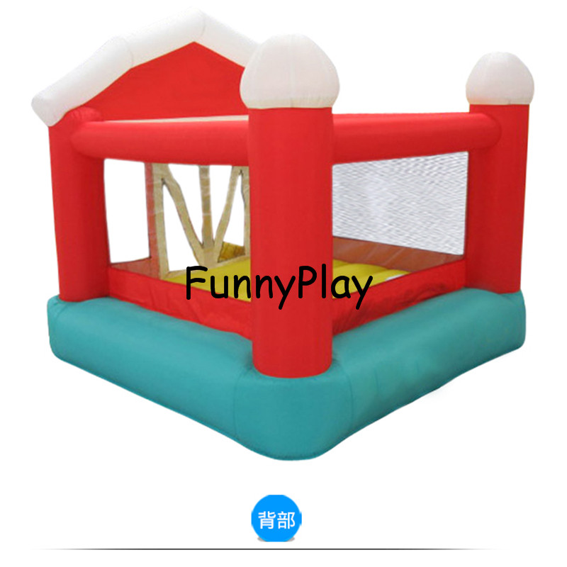 Christmas Nylon Mini Cheap Inflatable Bouncer Kid Jumping House Bouncy Castle Game With Air blower for Kids jumping castle