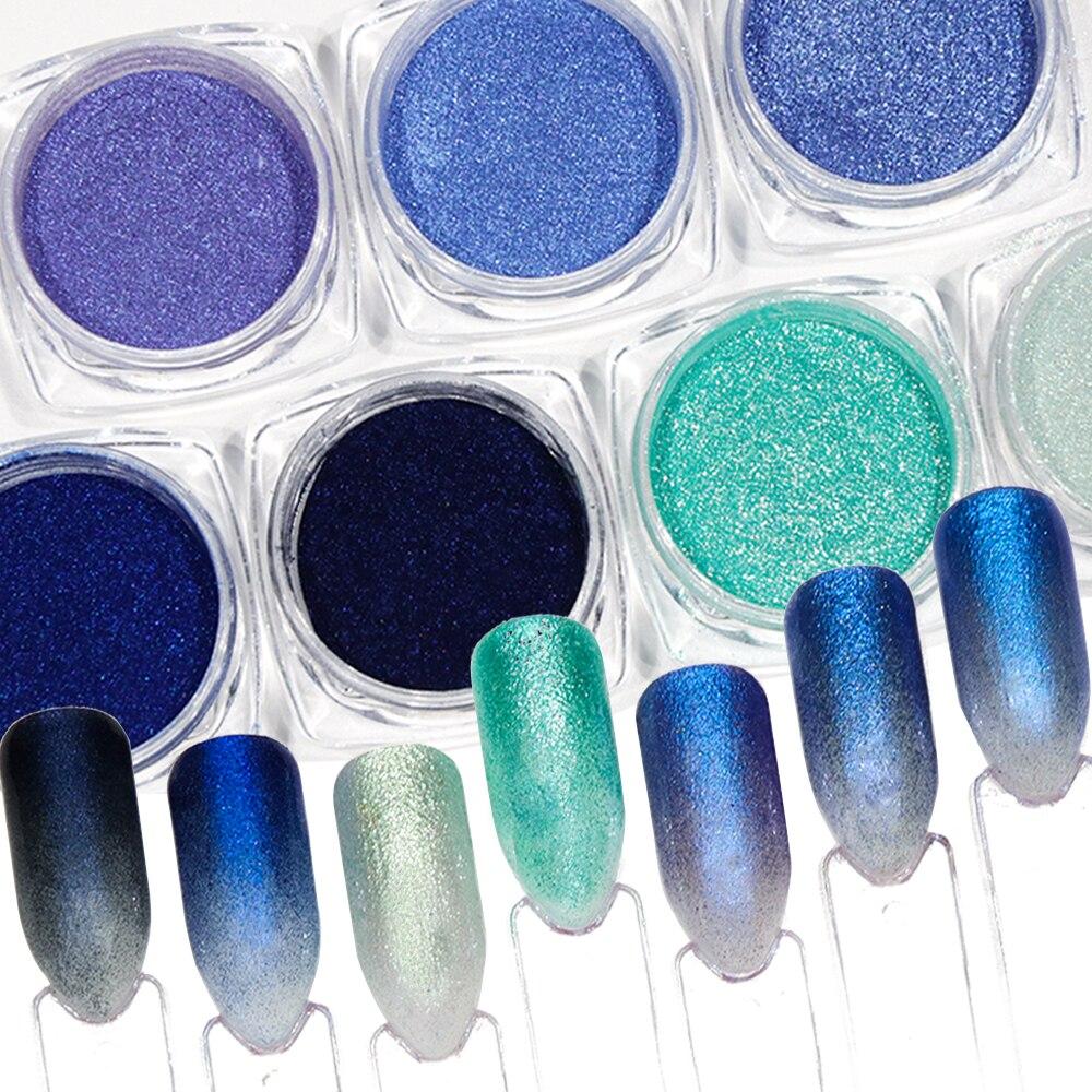 7 Stücke Gradienten Nagel Glitter Pigment Pulver Set Mokka Blau Für Nagel Kunst Dekorationen Dünne Chrom Pigment Polnischen Tipps Maniküre Jibj7 Billigverkauf 50% Nagelglitzer Nails Art & Werkzeuge