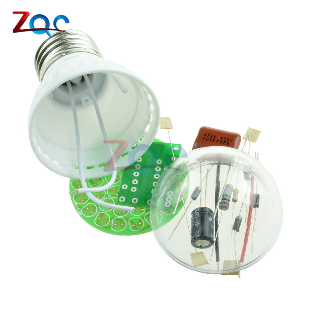 1Set Energy-Saving 38 LEDs Lamps DIY Kits Electronic Suite High Quality 3