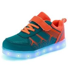 Mode Enfants LED light up Chaussures Pour Enfants Sneakers Mode USB De Charge Lumineux Lumineux Garçon Fille Sport Casual Enfant Chaussures