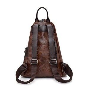Image 3 - Vintage Antitheft Backpack Women 2018 Fashion New Large Capacity Women Shoulder Bag Leisure Soft Leather School Travel Back Pack