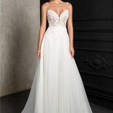 CLOUDS IMPRESSION Beach Wedding Dress vestido de noiva