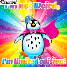 Dispaint Full Square/Round Drill 5D DIY Diamond Painting Cartoon penguin 3D Embroidery Cross Stitch Home Decor A12399