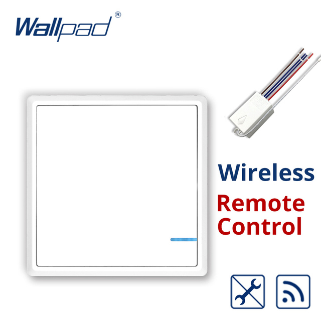 Wallpad Wireless Remote 1 Gang Light Switch, Install Anywhere, No ...