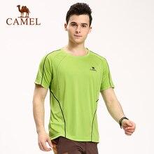Camel Outdoor Summer Short-sleeve Men Quick-drying O-neck T-shirt Ultra-light Sport Male Tops Camping Hiking Tees A6S268131