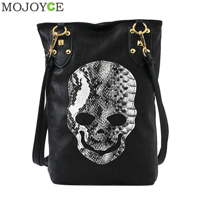 Women Skull Pattern Handbags Soft PU Leather Casual Shoulder Bag Famous Designer Crossbody Bags for Women Large Shopping Bags
