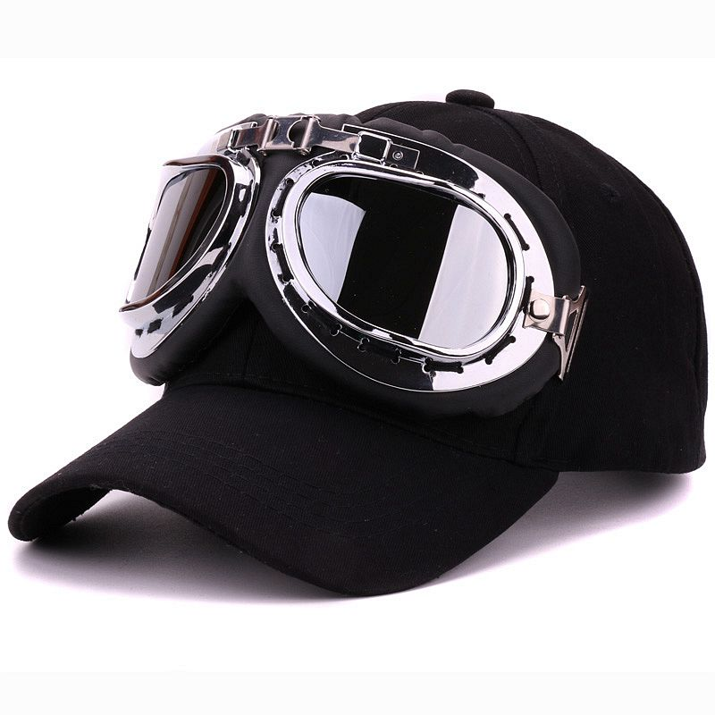 sports ski hats fancy cotton panels goggles baseball cap polite glasses caps decoration novelty brand doo