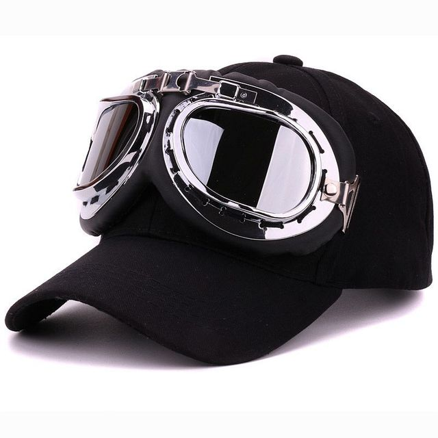 Fancy cotton 6 panels ski goggles baseball cap with polite glasses sports  caps decoration novelty halley 55929c9b5505