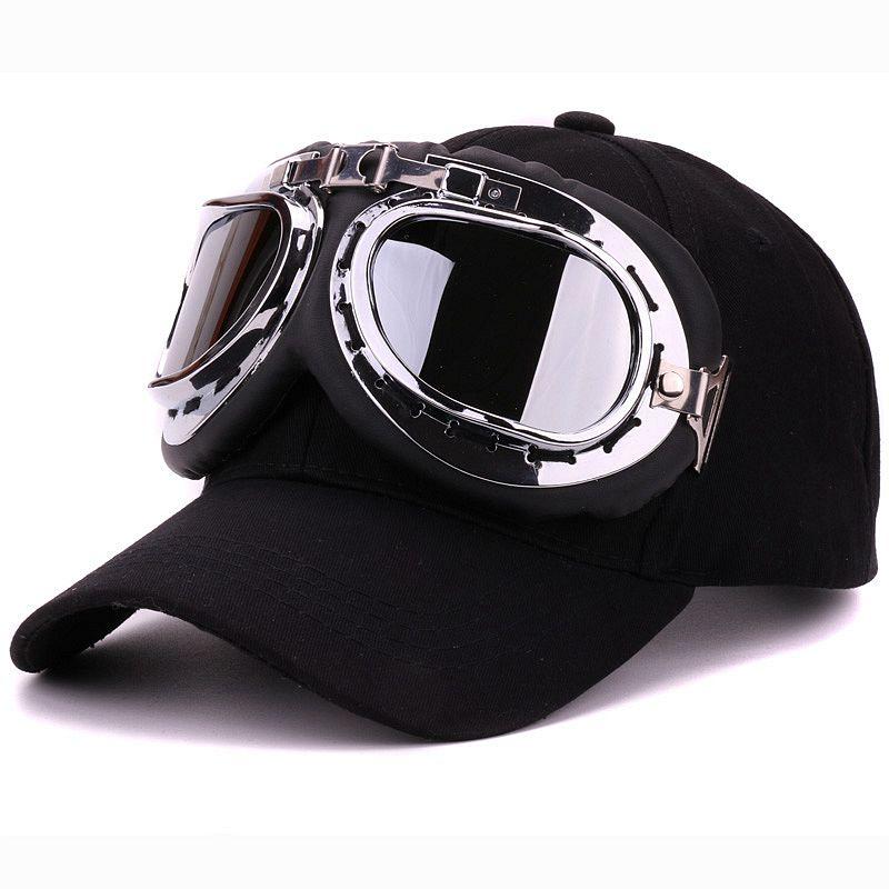 Fancy cotton 6 panels ski goggles baseball cap