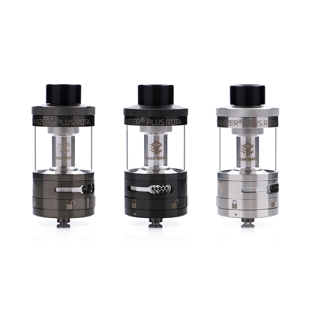 Original Steam Crave Aromamizer Plus RDTA Tank Atomizer 10ml Capacity Enhanced Airflow Juice Flow Design RDTA for E Cig Mod original fumytech dragon ball rdta atomizer dragonball culture cystal ball rdta electronic cigarette atomizer vaporizer
