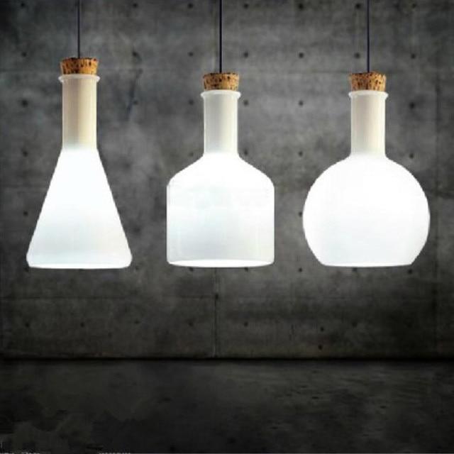 WHITE Labware Glass Light Collection by Benjamin Hubert pendant lamp medicine bottle Magic Bottle E27 lighting110-240V