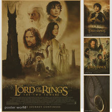 Lord of Ring A meek Hobbit and eight companions set out on a journey to destroy the One Ring and the Dark Lord Sauron poster(China)