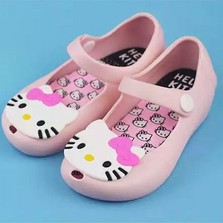 Gilrs Sandals 2018Mini Melissa Jelly Princess Summer ChildrenS Shoes kitty Shoes breathable Cartoon Sandals Shoes