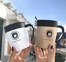 Новый 330 мл Кофе кружка вакуумной присоской термос Нержавеющаясталь утепленная чашки воды стакан с ручкой и крышкой и веселки офисные