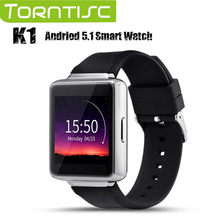Torntisc Andriod 5.1 Bluetooth Smart Watch K1 Fashion Wristwatch MTK6580 Support GPS Wifi Pedometer Heart Rating Anti-theft