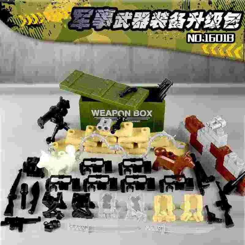 Legoing Military Swat Team Guns Weapons Soldiers WW2 Modern Equipment Mortar Figures Building Block Kids Toy Compatible Legoings