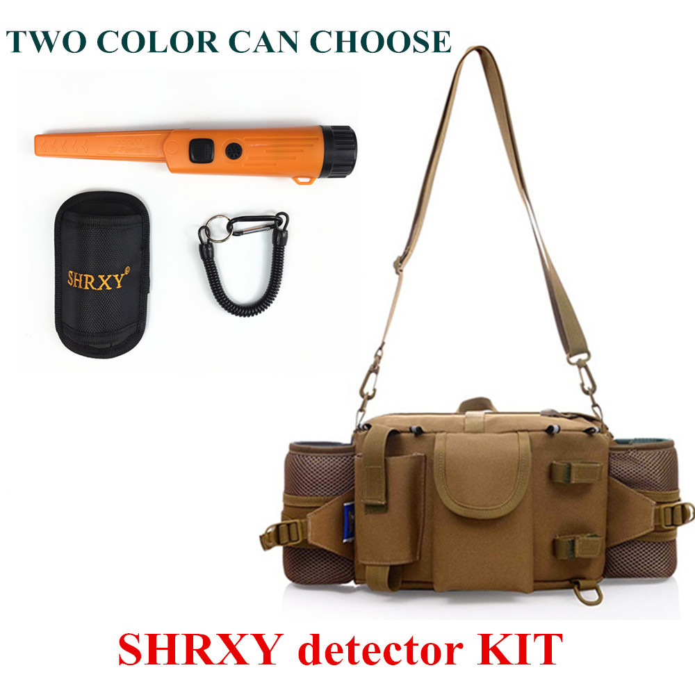 SHRXY Sensitive Gp-pointerII Orange Color Metal Detector Kit TRX Hand Held Metal Detector With Toolkit Pockets