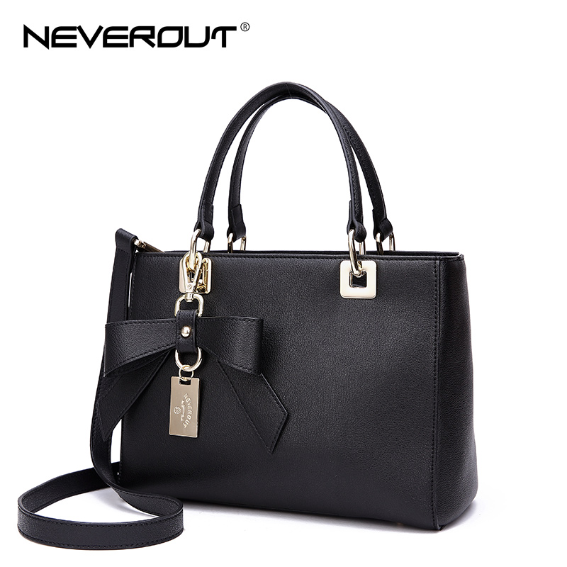 NeverOut Fashion brand Casual Handbags Tote for Women Zipper Split Leather Travel Bag Solid Simple Style Handbag Top-Handle Bags fashion neoprene travel picnic food insulated lunch bag tote cooler bag handbag for women kids thermal bag lunchbox bag tote
