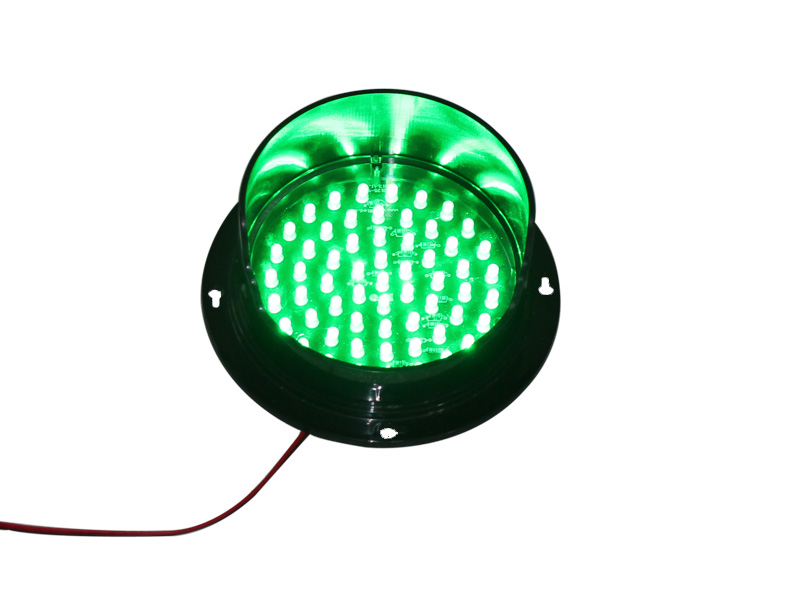 DC24V CE Approved Customized Mini 125mm Green LED Traffic Signal Lamp