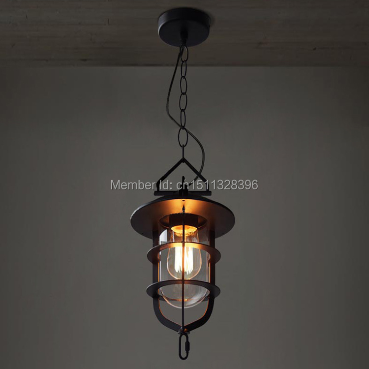 Vintage Edison Metal Glass Pendant Light With Chain Ceiling Lamp Droplight Bar Hall Coffee Shop Club Store Restaurant Balcony 32cm vintage iron pendant light metal edison 3 light lighting fixture droplight cafe bar coffee shop hall store club