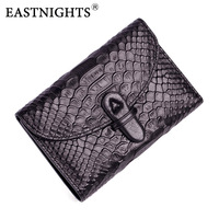 EASTNIGHTS 2017 New Real Genuine Cow Leather Women Wallets Brand Design High Quality Female Wallets Coin