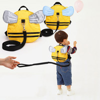 Mini Cartoon Animal Schoolbag vWith Long Belt For Anti-lost Backpack Child Shoulder Bag With Lovely Wings